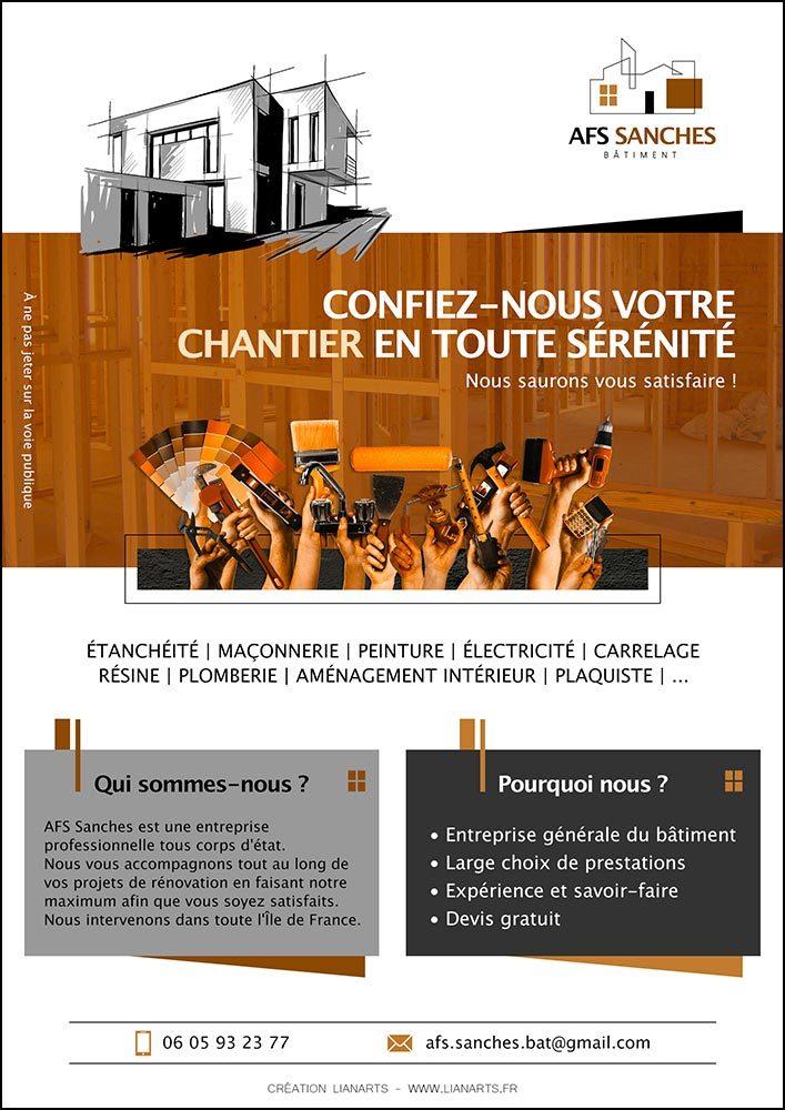 Affiche/Flyer AFS SANCHES - Graphiste LianArts