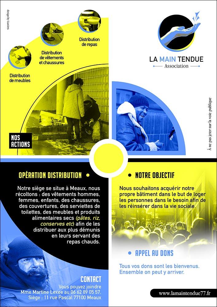 Affiche/Flyer La Main Tendue - Graphiste LianArts