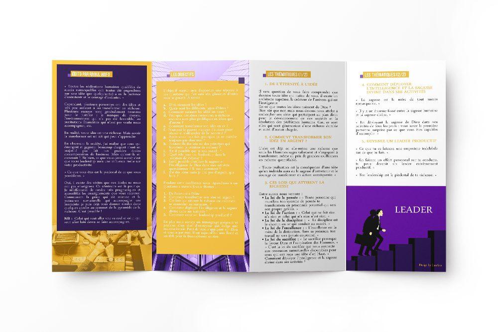Dépliant LianArts (Communication Visuelle)
