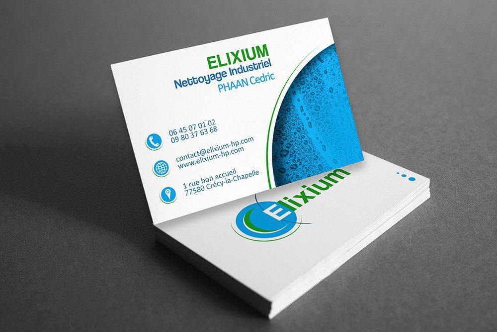 Carte de visite ELIXIUM - Graphiste LianArts