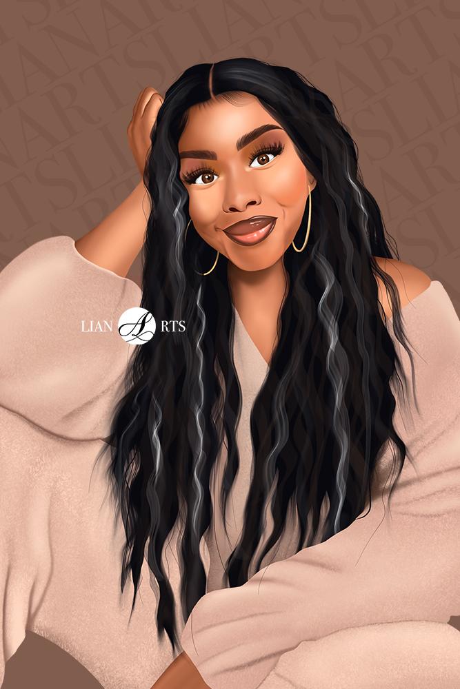 Illustration de Portrait LianArts - Bengine