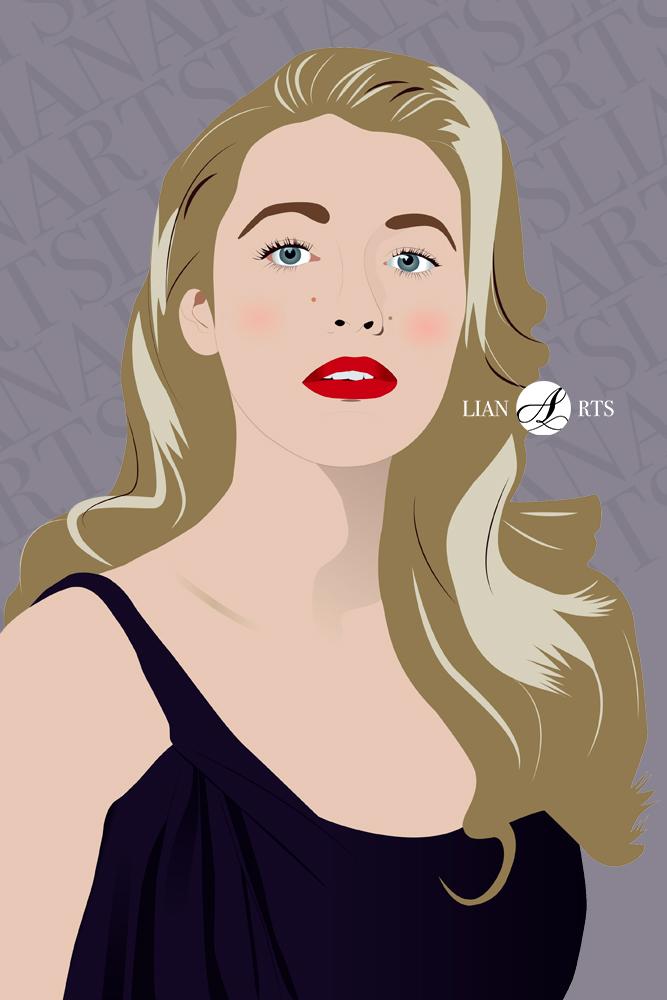 Illustration de Portrait LianArts - Blake Lively