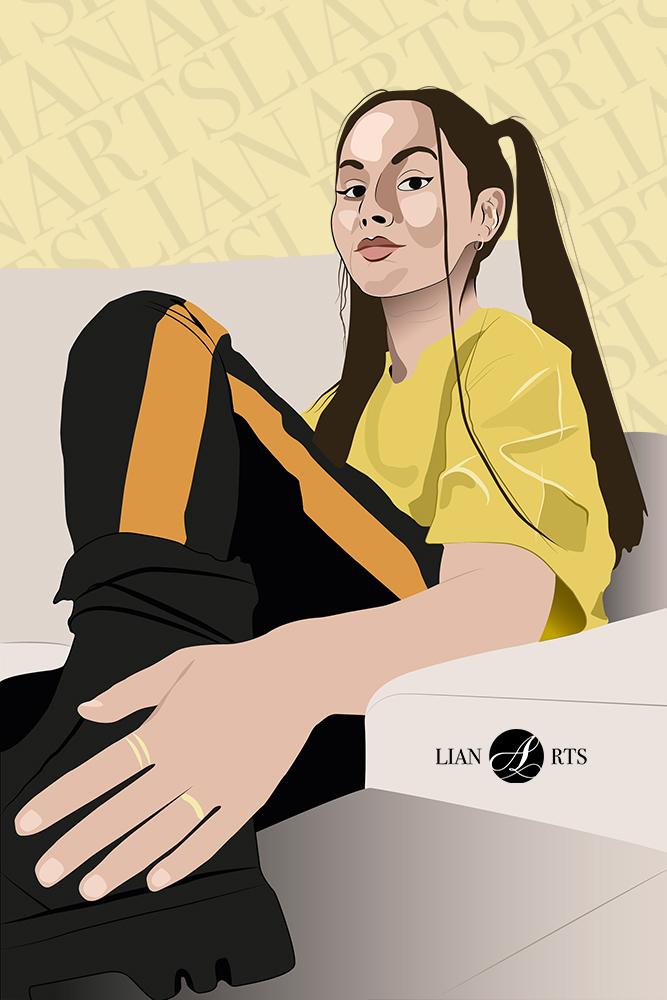 Illustration de Portrait LianArts
