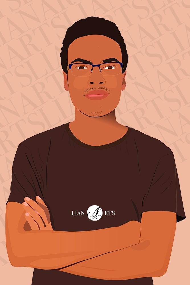Illustration de Portrait LianArts - Joshua