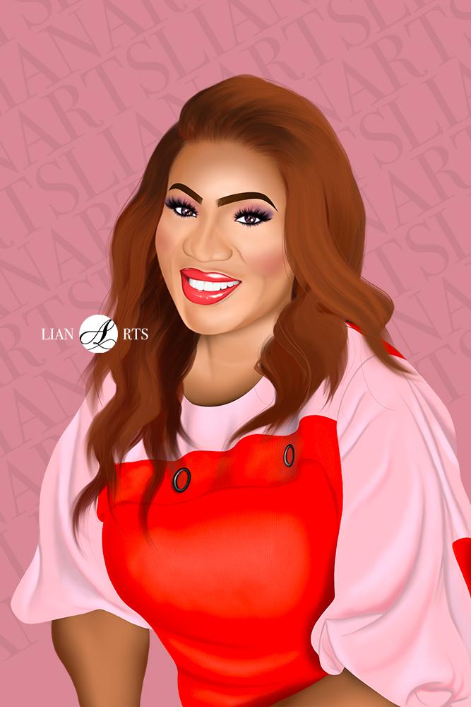 Illustration de Portrait LianArts - Lady Sonia Mabiala