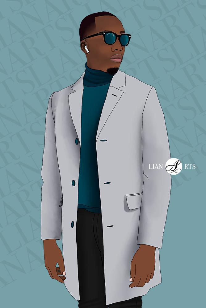 Illustration de Portrait LianArts - Parini Kouba
