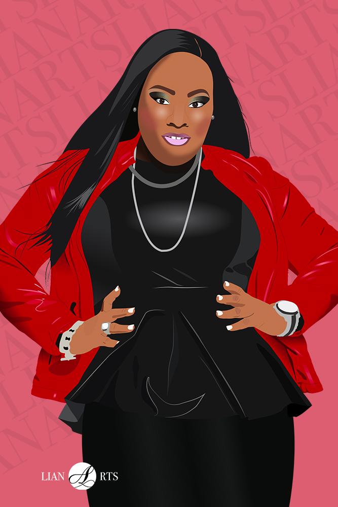 Illustration de Portrait LianArts - Tasha Cobbs