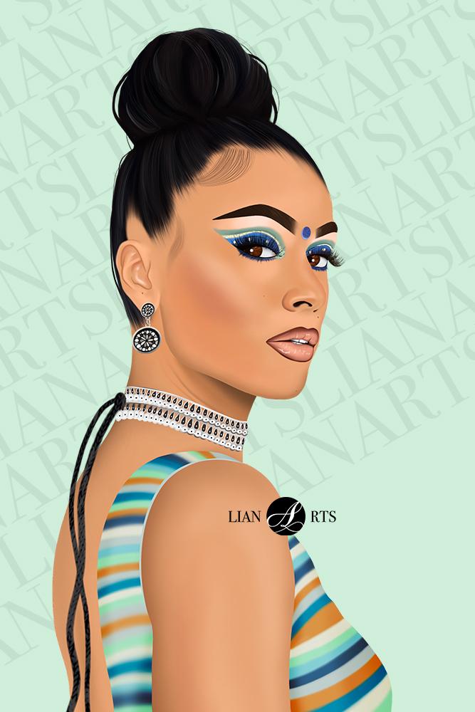 Illustration de Portrait LianArts - Thanuska